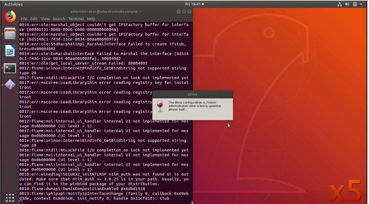 How to run windows application on Linux using Wine 4 0