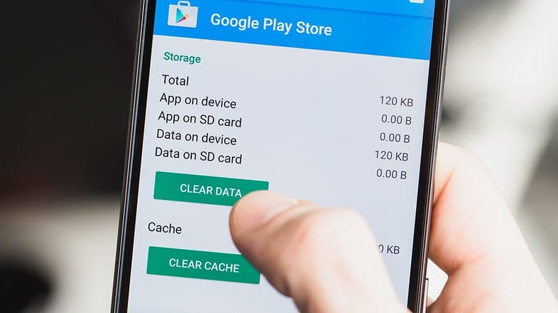 Clear the Google Play Store cache