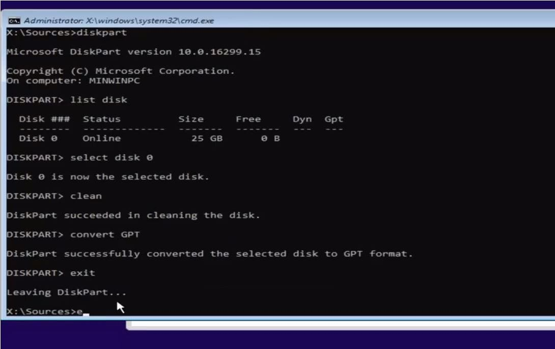 Solved: Windows cannot be installed to this disk (Convert
