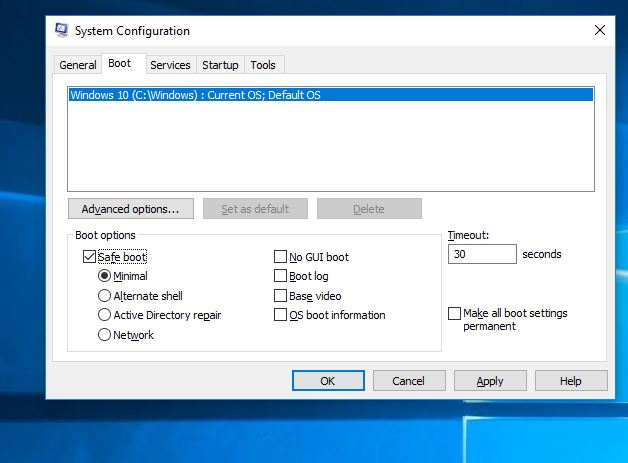 Using System Configuration tool