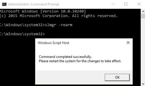 Command to remove Windows licence
