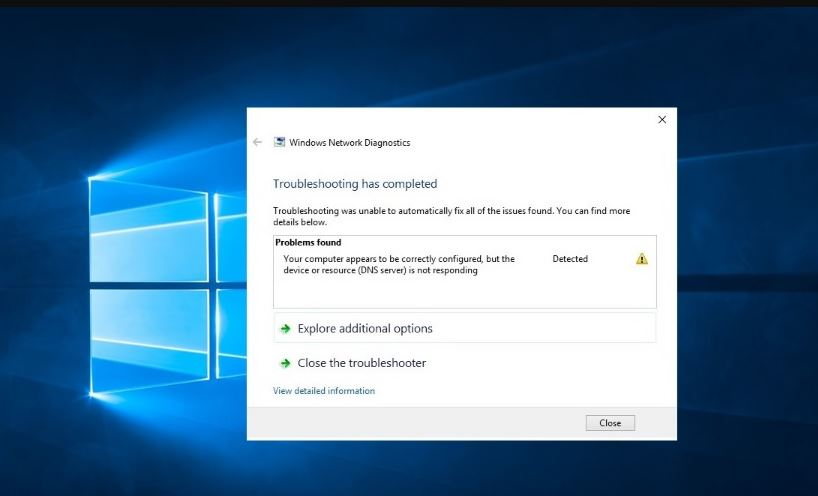 Your DNS Server Might Be Unavailable In Windows 10, 8.1 and 7