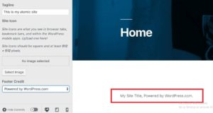 Remove footer credit from WordPress theme