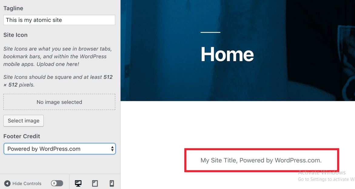 """Remove footer credit """"Proudly powered by WordPress"""" from wordpress theme"""
