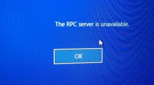 RPC server is unavailable windows 10