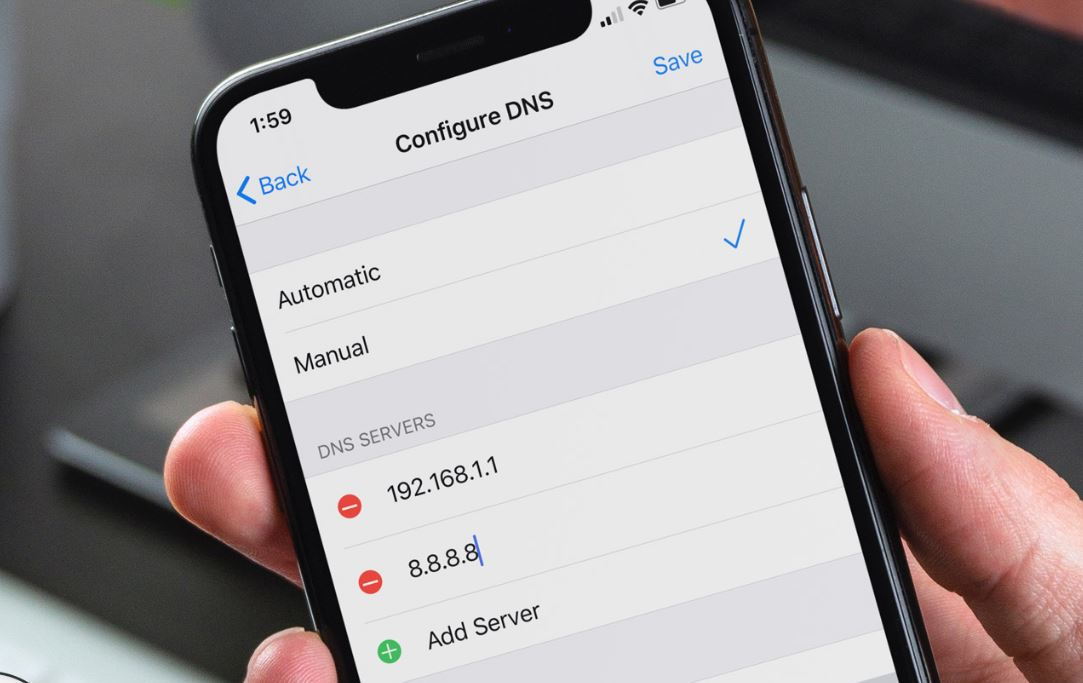 Switch to Google DNS iPhone