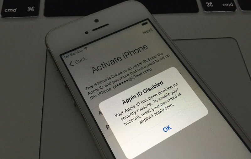 Your Apple ID has been disabled for security reasons.