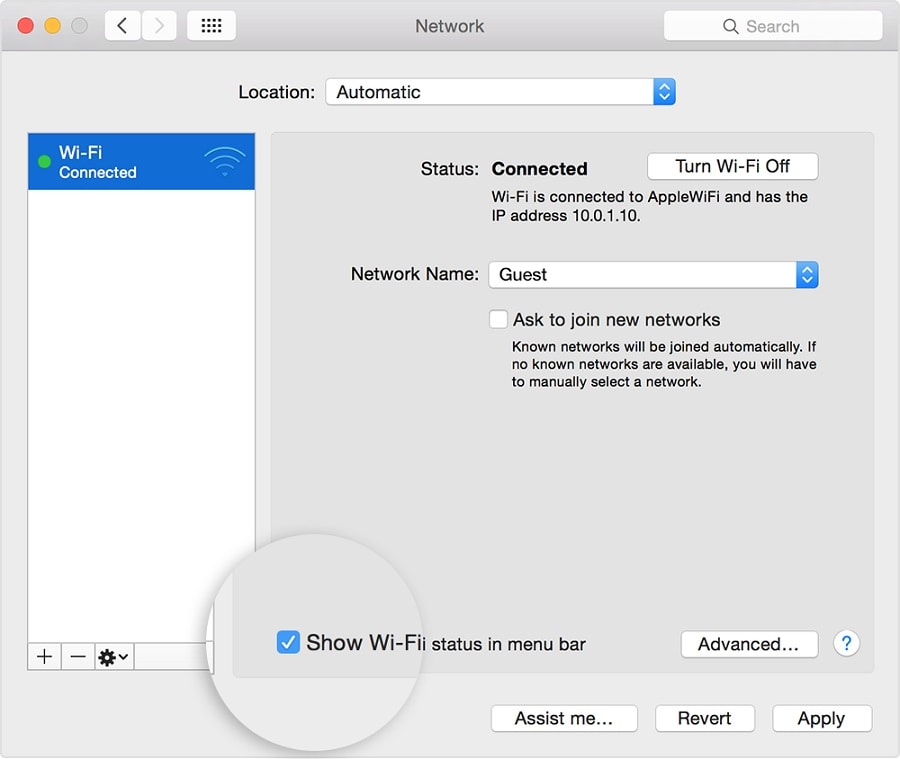 Forget your Wi-Fi network mac