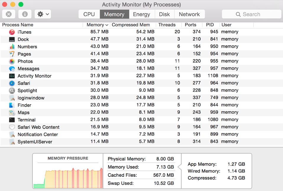 Use Activity Monitor on your Mac