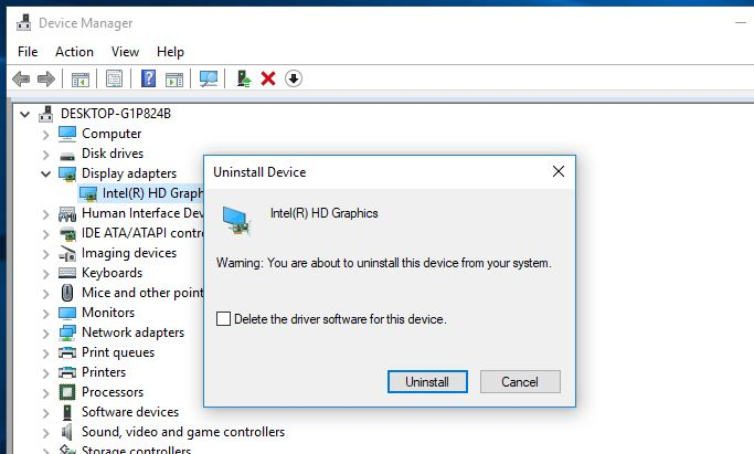 Uninstall Graphic Driver