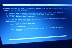 windows boot manager error