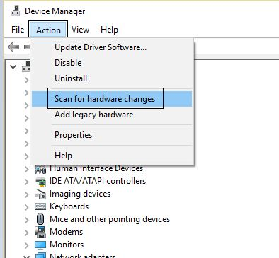 scan hardware changes