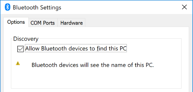 Allow Bluetooth Devices to Find Your PC