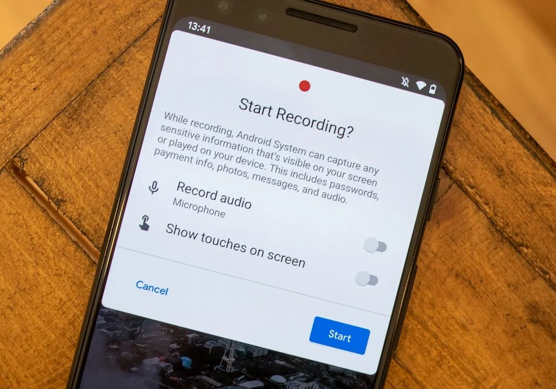 Android screen record