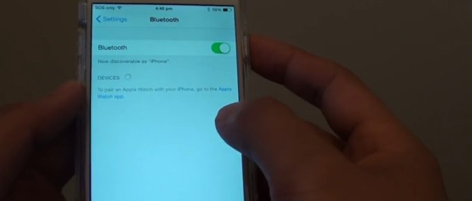 iPhone can't find Bluetooth devices