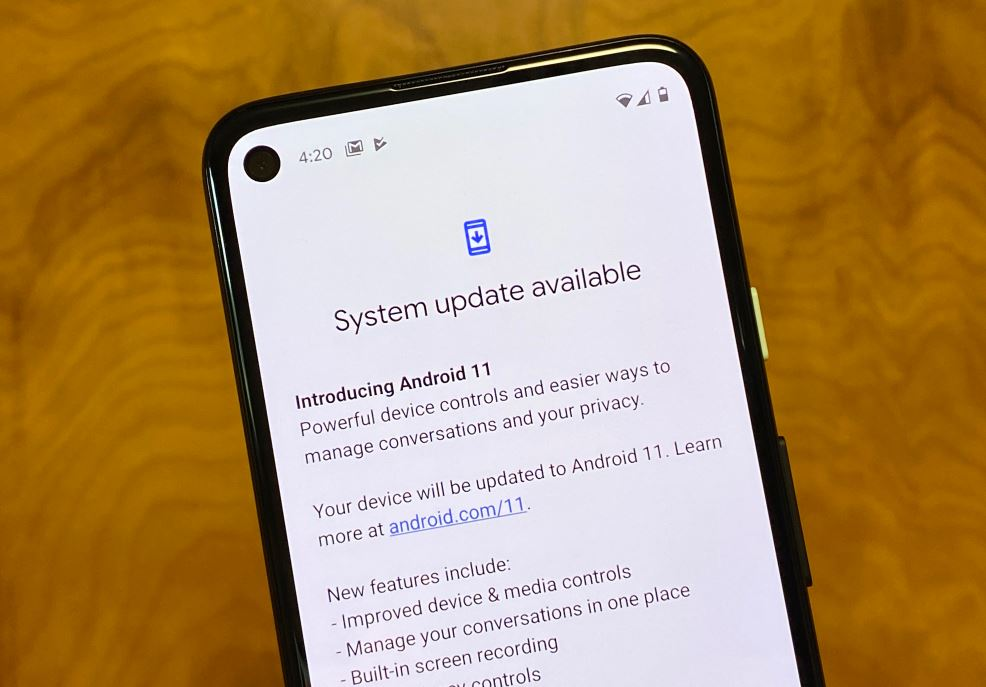 Android system update failed