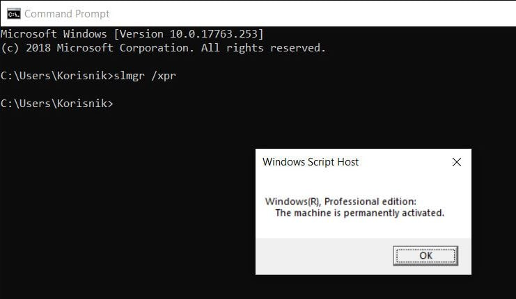 Check Windows 10 Is Genuine or not